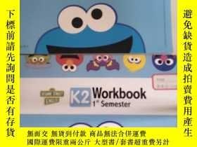 二手書博民逛書店芝麻街英語罕見Workbook 1st Semester K2   K3Workbook 2nd Semester
