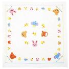 日本製MIKI HOUSE 日本製可愛動物寶寶嬰兒紗布巾90X90cm【JE精品美妝】