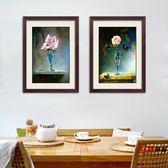油畫現代歐式花卉裝飾畫飯廳餐廳玄關掛畫田園墻面畫臥室油畫風格壁畫