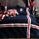 英倫特務 貼布繡 單人三件式鋪棉兩用被床...