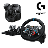 【3月開學促銷 至0328】 Logitech 羅技 G29 DRIVING FORCE 賽車方向盤 + DRIVING FORCE SHIFTER 變速器