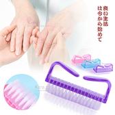 指甲清潔專用刷 羊角刷牛角刷-贈磨砂指甲搓刀kiret