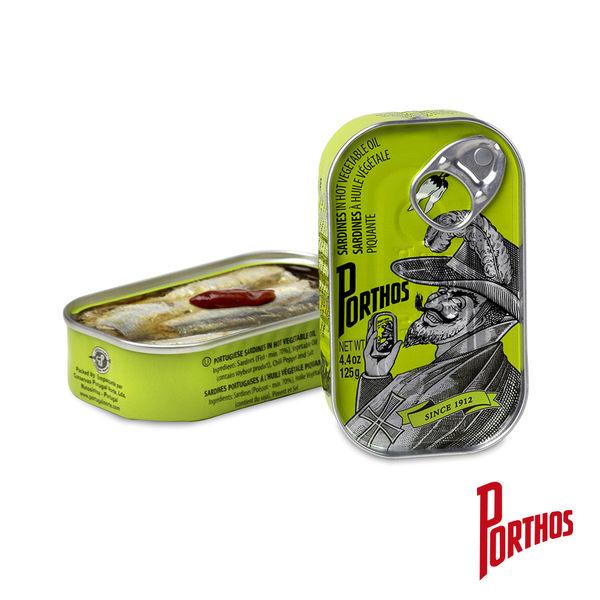 葡國老人牌-辣植物油沙丁魚