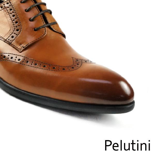 【Pelutini】頂級雕花德比紳士鞋 咖啡(6380-BR)