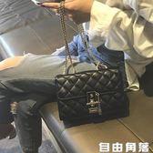 包包女2019新款韓版菱格鏈條包chic百搭斜挎包時尚高級感洋氣女包 自由角落