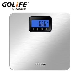 【GOLiFE】Fit 藍芽智慧BMI電子體重計-銀色