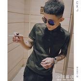 短袖男韓版潮流新款男士迷彩T恤社會精神小伙帥氣Polo衫青年『小淇嚴選』