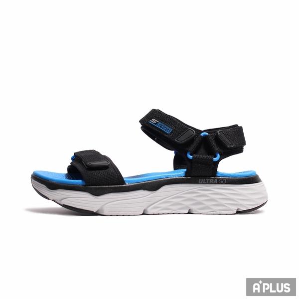 SKERCHERS 男 涼鞋 MAX CUSHIONING SANDAL 厚底 增高 藍 黃-229010BKBL/229010GYOR