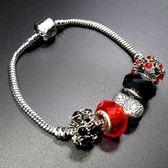 串珠手鍊 925純銀-水晶飾品唯美造型生日聖誕節禮物女配件73bo60【時尚巴黎】