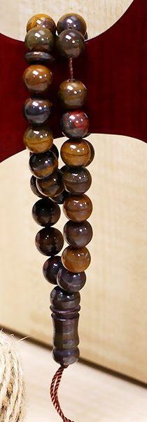 [協貿國際]天然鐵虎石33顆念珠單個價