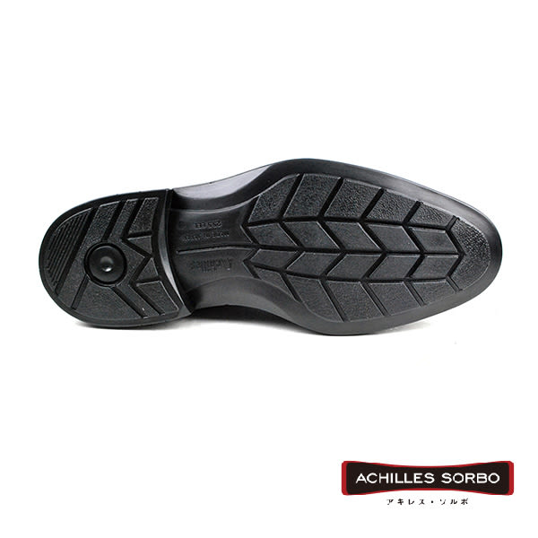 【Achilles SORBO】輕量時尚真皮德比紳士鞋  黑色(SRM283-BL)