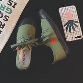 解放鞋潮低筒紅星夏原宿韓版抖音同款五角星情侶復古帆布板鞋 快速出貨