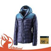 【Wildland 荒野 男 輕量四層700FP羽絨衣《深藍色》】0A22102/羽絨夾克/防風外套/爬山健行