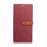 極微瑕全新品出清 Sony Xperia XZ Premium 雙色細扣帶側翻皮套 附卡槽夾層 勃艮地紅特賣專區1 $59