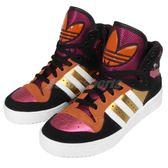【四折特賣】adidas 休閒鞋 M Attitude W 黑 桃紅 金 花卉 高筒 休閒鞋 女鞋【PUMP306】 B35346