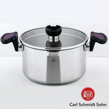 HOLA Carl Schmidt Sohn 亞倫不鏽鋼低身湯鍋 24cm