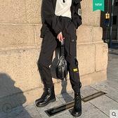 工裝褲子女秋新款束腳運動休閒褲高腰寬鬆顯瘦bf套裝潮 聖誕節全館免運