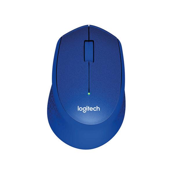 Logitech 羅技 M331 靜音無線滑鼠 (黑、紅、藍)