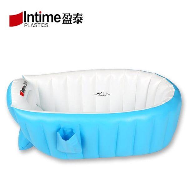 寶寶充氣浴盆加厚保溫新生兒家用室內浴缸游泳池嬰幼兒小孩洗澡盆