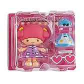 Sanrio 換裝娃娃組 擺飾玩偶 公仔 雙子星 LALA 愛心眼鏡 粉_261378