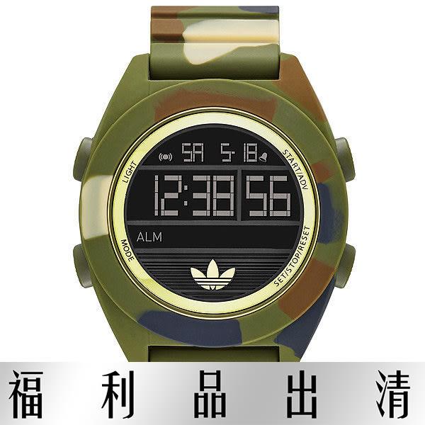 【台南 時代鐘錶 Adidas】愛迪達 ADH2992 大錶徑多功能電子腕錶 50mm 綠/迷彩 公司貨 開發票有保障