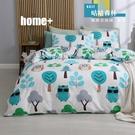【BEST寢飾】雲絲絨 鋪棉兩用被床包組 單人 雙人 加大 特大 均一價 咕咕森林 舒柔棉 台灣製造