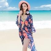 泳衣(三件式)-比基尼-時尚優雅飄逸罩衫女泳裝-2色73mb22【時尚巴黎】