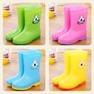 四季水靴加絨保暖高筒兒童雨鞋男童女童大童防滑中筒童鞋防水雨靴