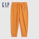 Gap男幼童 動物印花純棉法式圈織軟休閒褲 700529-橙色