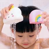 兒童軟膠寶寶浴室洗澡戲水噴水玩具套裝科教啓蒙雲朵氣象4件套 兒童玩具 洗澡玩具