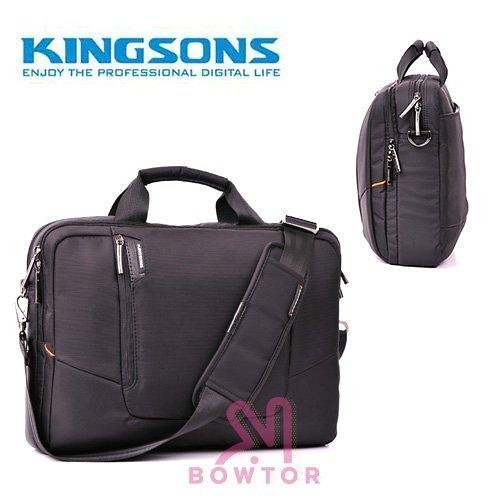 光華商場。包你個頭【Kingsons】15.6吋 大容量 側背 電腦包 黑橘 KS3020W