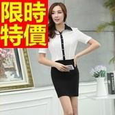 OL套裝(短袖裙裝)-辦公上班族可愛韓版職業制服3色54h37【巴黎精品】