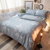 天絲床組 浪漫北歐 QPM4加大鋪棉床包鋪棉兩用被四件組(40支) 100%天絲 棉床本舖