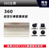 【360全景】360度安全行車影像系統 *SONY225鏡頭無光夜視+全景鳥瞰+倒車顯影*