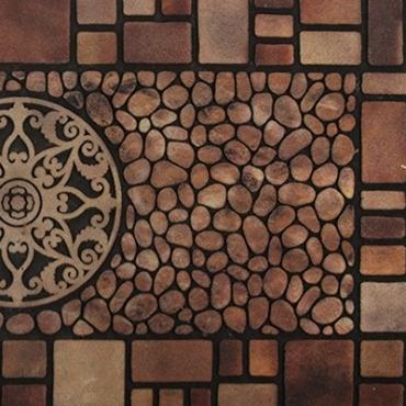 HOLA 波比刮泥墊55x119cm 羅馬磚紋