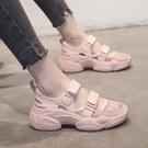 2021新款夏季仙女風ins潮平底鏤空學生百搭包頭運動涼鞋女鞋夏天 果果輕時尚