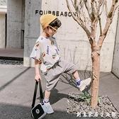 男童夏裝套裝新款韓版洋氣兒童短袖中大童夏季寶寶帥氣童裝潮