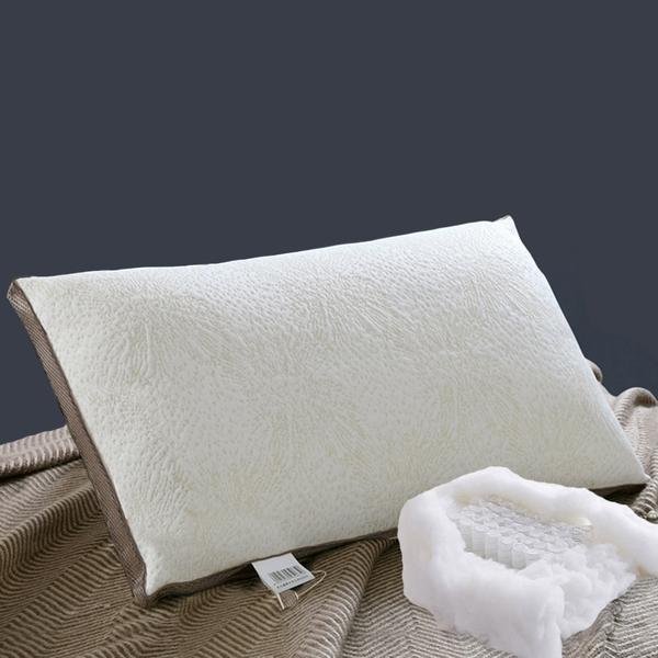 獨立筒彈簧羊毛枕頭/一入【台灣製造 40顆獨立包裝彈簧 喀什米爾羊毛 高支撐回彈好 】(A-nice) aq