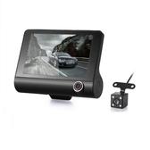 新款4寸三錄行車記錄儀 隱藏式1080P高清夜視倒車影像 潮流衣舍