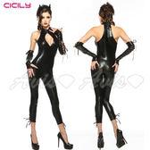 情趣線上 情趣用品-虐戀 CICILY 魔女遊戲*連身塗膠仿皮裝 性感彈力緊身衣 3363 情趣用品專賣