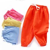 中小童燈籠褲 透氣棉紗褲 經典素色 防蚊褲 鬆緊綁帶 寶寶長褲 兒童 休閒長褲 HY24803