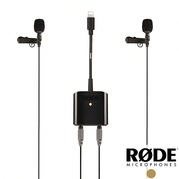 【RODE】SC6-L Mobile Interview Kit 領夾麥克風套組 含SmartLav+ x2 手機訪談 iOS用 Lightning 正成公司貨