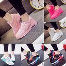 運動鞋女透氣單鞋休閒氣墊跑步鞋學生旅游鞋...