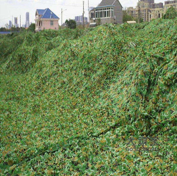 偽裝網 防航拍偽裝網迷彩網遮光網戶外叢林迷彩遮陽網布綠化防偽網軍綠色T