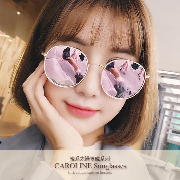 《Caroline》年度最新網紅款潮流百搭抗UV時尚太陽眼鏡 72194