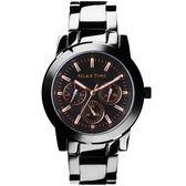RELAX TIME 炫目耀眼三眼圈時尚腕錶/R0800-16-10X/大