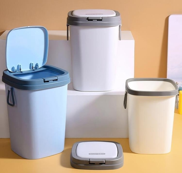 垃圾桶 北歐風垃圾桶帶蓋家用客廳創意衛生間廁所廚房輕奢有蓋圾垃筒【快速出貨八折搶購】