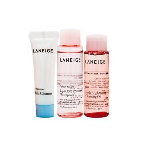 ✿ 梨花跑跑妞 ✿ 韓國 蘭芝LANEIGE 卸妝潔顏體驗三件組 眼唇卸妝液 卸妝油 潔面乳 旅行組