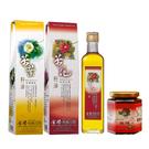 【金椿油品】紅花大果(500ml/瓶)+茶葉綠菓(500ml/瓶)+茶油花椒麻辣醬(250g/瓶)