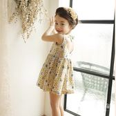女童洋裝 韓版童裝夏小碎花連衣裙中小童全棉純棉露背兒童裙子